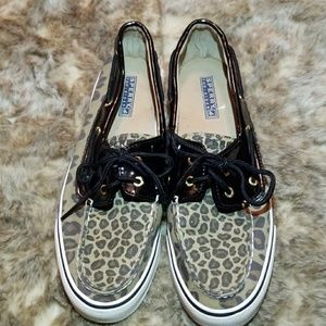 Cheetah Print Sperrt Top-Sider Boat Shoes